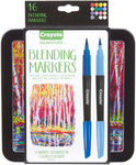 Assorted Colors 14/Pkg - Crayola Signature Blending Markers W/Tin