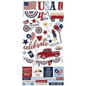 Hometown USA Sticker Sheet - Simple Stories