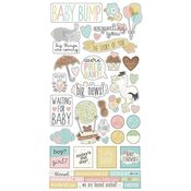 Oh Baby! Expecting Sticker Sheet - Simple Stories