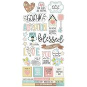 Oh Baby! Adoption Sticker Sheet - Simple Stories
