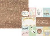 3x4 & 4x6 Elements Paper - Oh Baby! Expecting - Simple Stories