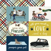 4 x 6 Journaling Cards Paper - A Dogs Tail - Echo Park