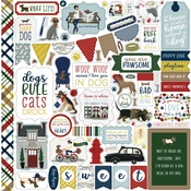 A Dogs Tail Element Sticker Sheet - Echo Park