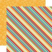 School Stripes Paper - Back To School - Echo Park