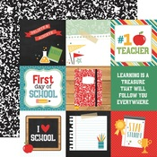 4 x 4 Journaling Cards Paper - Back To School - Echo Park - PRE ORDER