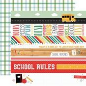 Border Strips Paper - Back To School - Echo Park