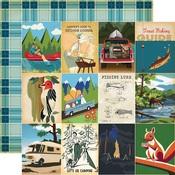 3 x 4 Journaling Cards Paper - Gone Camping - Carta Bella