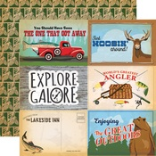 4 x 6 Journaling Cards Paper - Gone Camping - Carta Bella