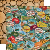 Travel Patches Paper - Gone Camping - Carta Bella