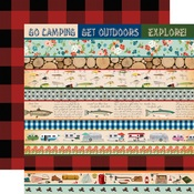 Border Strips Paper - Gone Camping - Carta Bella
