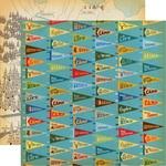 Camp Flags Paper - Gone Camping - Carta Bella - PRE ORDER