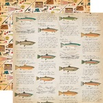 Fish Facts Paper - Gone Camping - Carta Bella - PRE ORDER