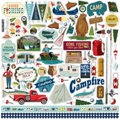 Gone Camping Sticker Sheet - Carta Bella