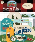 Gone Camping Frames & Tags - Carta Bella