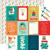 3 x 4 Journaling Cards Paper - Pack Your Bags - Carta Bella - PRE ORDER