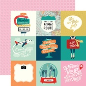4 x 4 Journaling Cards Paper - Pack Your Bags - Carta Bella