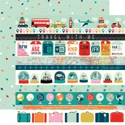 Border Strips Paper - Pack Your Bags - Carta Bella