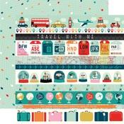 Border Strips Paper - Pack Your Bags - Carta Bella - PRE ORDER