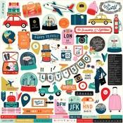 Pack Your Bags Sticker Sheet - Carta Bella