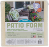 18 X18 X2  FOB: MI - Fairfield Patio Foam Pre-Cut Patio Foam is designed with special open cells allowing both water and air to quickly pass through creating cool and comfortable, fast-drying cushions. Strong enough to stand up to all the elements, they are ideal for many outdoor uses like porch, deck, pool, and patio furniture as well as boat and marine cushions. This package contains one 18x18x2 inch piece of pre-cut patio foam. Made in USA.