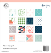 "Be You, 8 Designs/2 Each - Pinkfresh Studio Double-Sided Paper Pack 12""X12"" 16/Pkg"