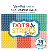 """Summer Gingham - Echo Park Double-Sided Paper Pad 6""""X6"""" 24/Pkg"""