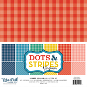 """Summer Gingham - Echo Park Double-Sided Collection Pack 12""""X12"""" 12/Pkg"""