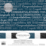 "Congrats W/Silver Foil - Carta Bella Collection Kit 12""X12"" 6/Pkg"