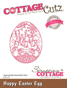 "Happy Easter Egg 2.4""X3"" - CottageCutz Elites Die"