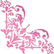 "Intricate Corner 1.5""X1.5"" - Couture Creations C'est La Vie Hotfoil Stamp"