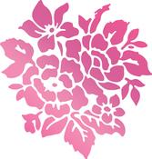 """Rosy Bouquet 1.5""""X1.6"""" - Couture Creations C'est La Vie Hotfoil Stamp"""