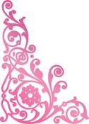 """Acanthus Corner 2.4""""X1.7"""" - Couture Creations C'est La Vie Hotfoil Stamp"""