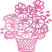 """Basket Of Flowers 1.9""""X1.9"""" - Couture Creations C'est La Vie Hotfoil Stamp"""