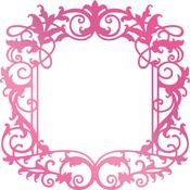 "Intricate Border 3.3""X3.3"" - Couture Creations C'est La Vie Hotfoil Stamp"