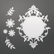 """Flowers & Frame, 2.6""""X3.3"""" - Couture Creations C'est La Vie Dies 6/Pkg"""