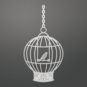 "Bird Cage, 1.9""X3.8"" - Couture Creations C'est La Vie Die"