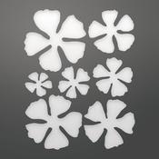 """Geraniums Layered, 1.6""""X1.6"""" - Couture Creations C'est La Vie Dies 7/Pkg"""