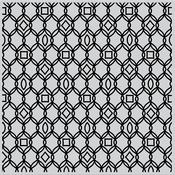 "Filigree Pattern Bold - Hero Arts Background Cling Stamp 6""X6"""