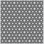 "Floral Tile Bold - Hero Arts Background Cling Stamp 6""X6"""