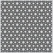 "Floral Tile Bold - Hero Arts Background Cling Stamp 6""X6"""
