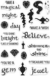 """Magical Nights Messages - Hero Arts Clear Stamps 4""""X6"""""""