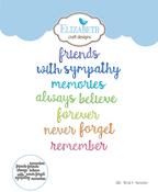 Words 4-Remember - Elizabeth Craft Metal Die