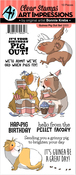 Guinea Pig Out - Art Impressions Funny Farm Clear Stamps