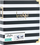 "Black Stripe - Heidi Swapp Storyline 2 D-Ring Album 8.5""X11"""