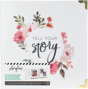 "White Floral - Heidi Swapp Storyline 2 D-Ring Album 8.5""X11"""