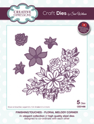 Finishing Touches-Floral Melody Corner - Creative Expressions Craft Dies By Sue Wilson