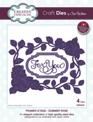Frames & Tags-Summer Rose - Creative Expressions Craft Dies By Sue Wilson