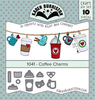 Coffee Charms - Karen Burniston Dies Karen Burniston dies will give an added touch to any paper project and are compatible with most die-cutting machines. This package contains Coffee Charms: a set of 10 metal dies measuring between .5x.5 inches and .875x1.25 inches. WARNING: Choking Hazard. Not suitable for children under 3 years. WARNING: May contain items with sharp edges. Handle with care. Imported.