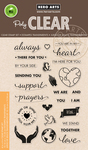 "Support Prayers Love - Hero Arts Clear Stamps 4""X6"""
