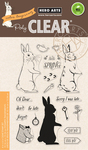 """Color Layering Rabbit - Hero Arts Clear Stamps 4""""X6"""""""